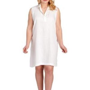 Plus Size Linen Blend Shift Dress
